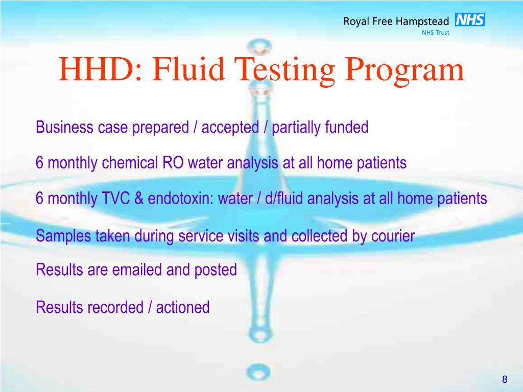 HHD: Fluid Testing Program