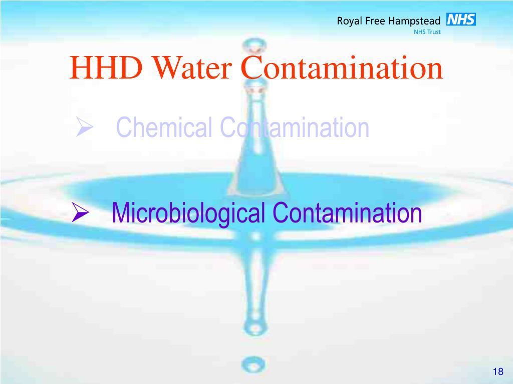 HHD Water Contamination