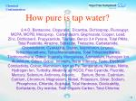 how pure is tap water