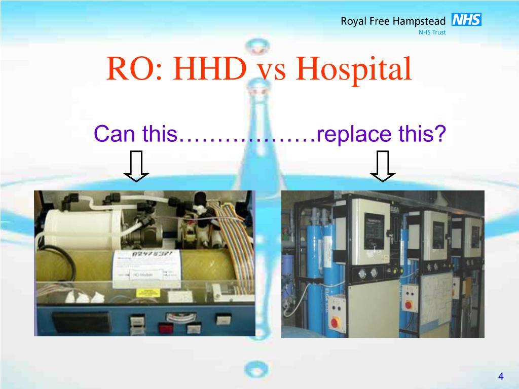 RO: HHD vs Hospital
