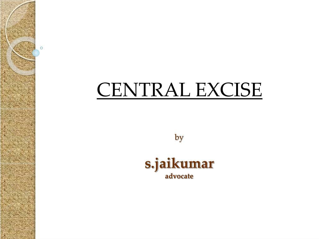 by s jaikumar advocate