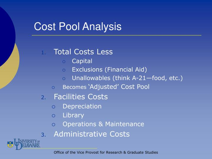 Cost Pool Analysis