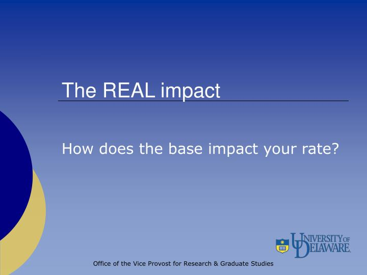 The REAL impact