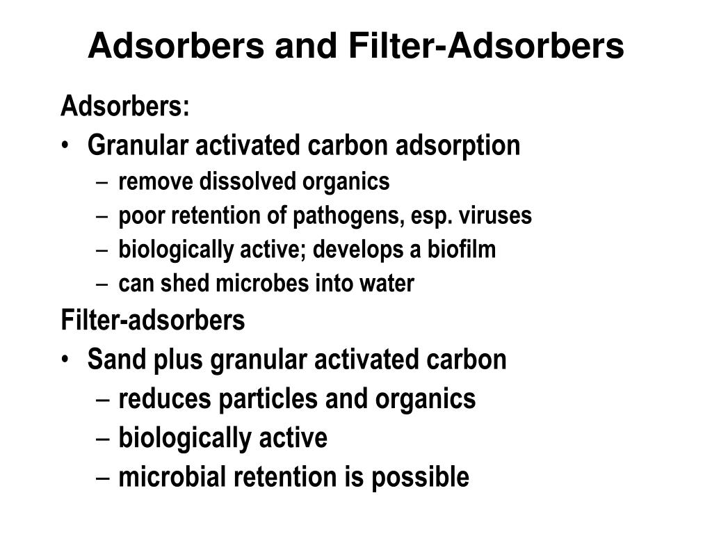 Adsorbers and Filter-Adsorbers