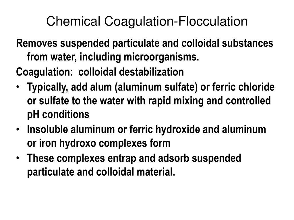 Chemical Coagulation-Flocculation