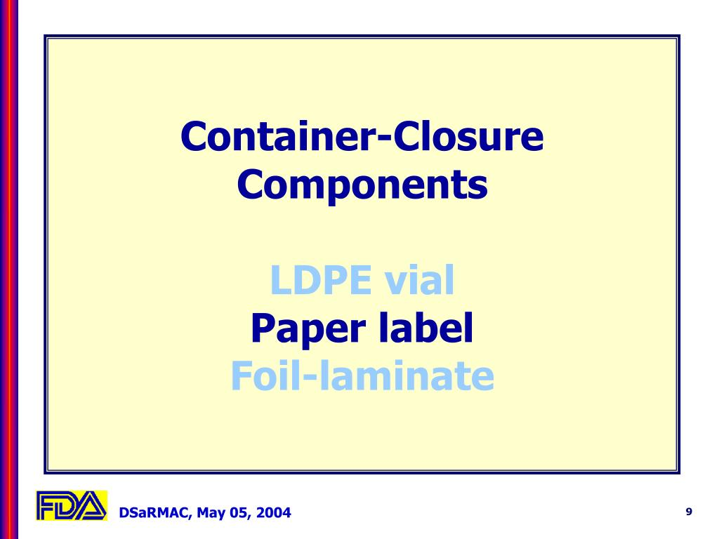 Container-Closure Components