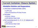 current container closure system