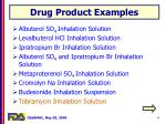 drug product examples