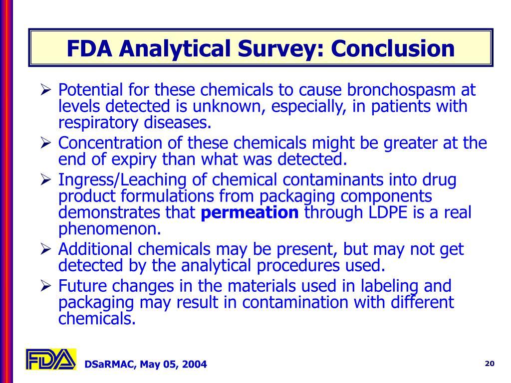 FDA Analytical Survey: Conclusion