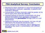 fda analytical survey conclusion