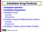inhalation drug products