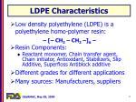ldpe characteristics