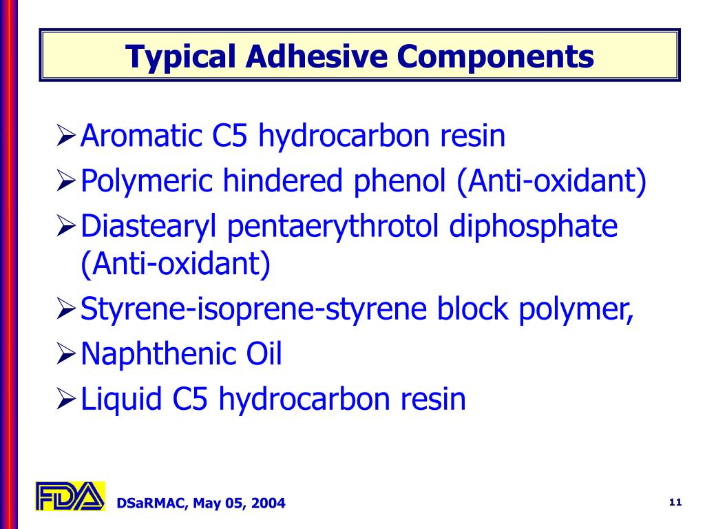 Typical Adhesive Components