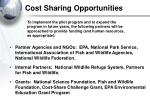 cost sharing opportunities
