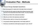 evaluation plan methods29