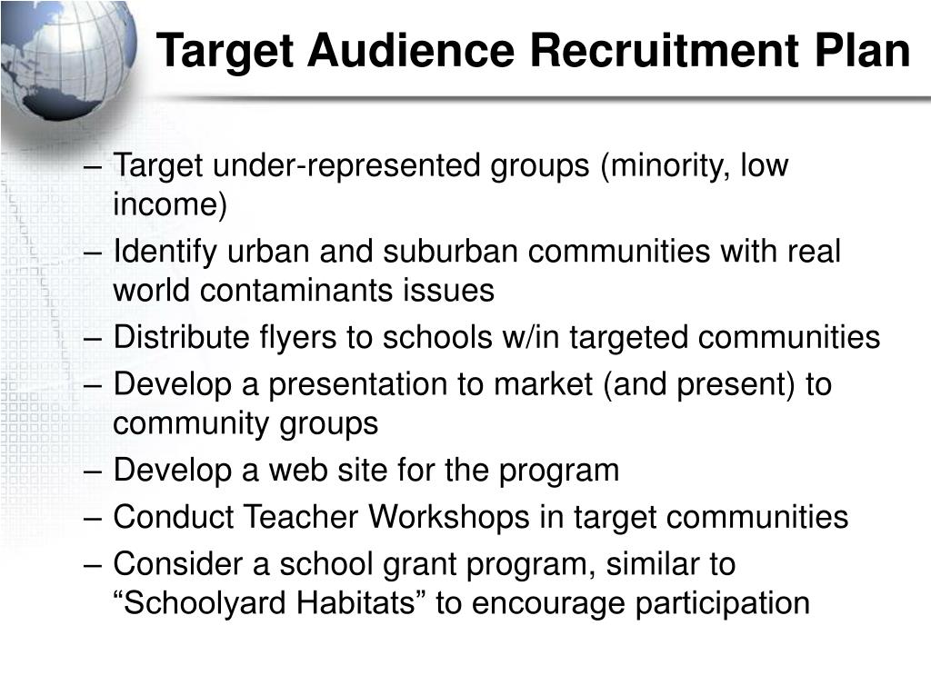 Target Audience Recruitment Plan