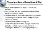 target audience recruitment plan