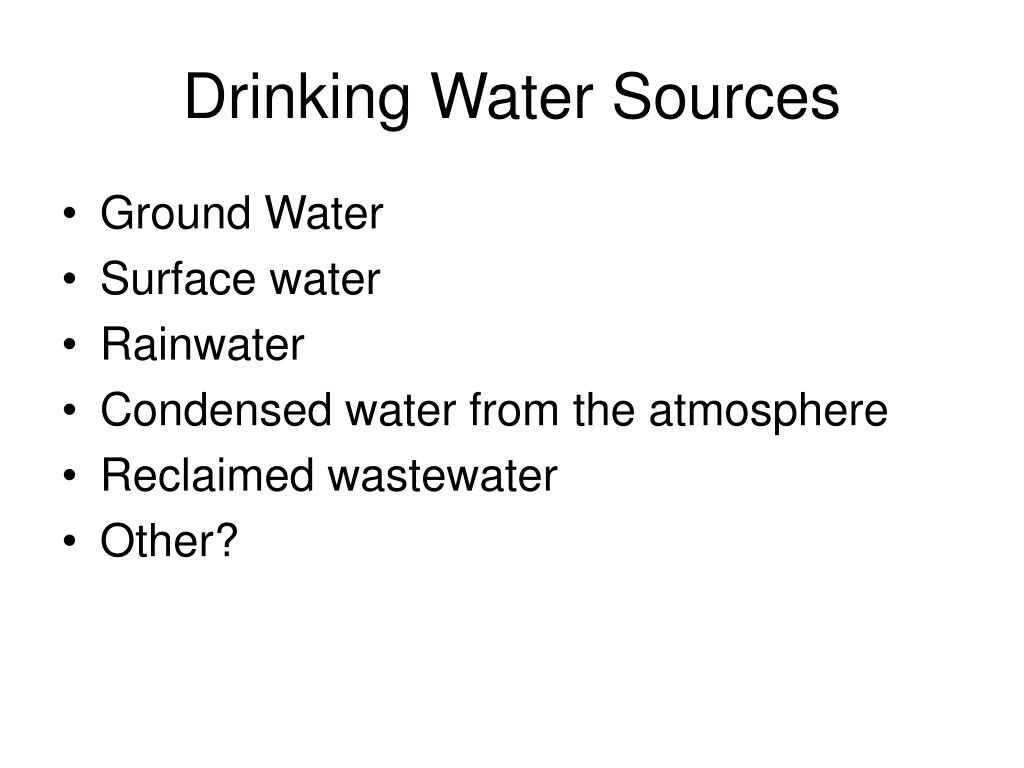 Drinking Water Sources