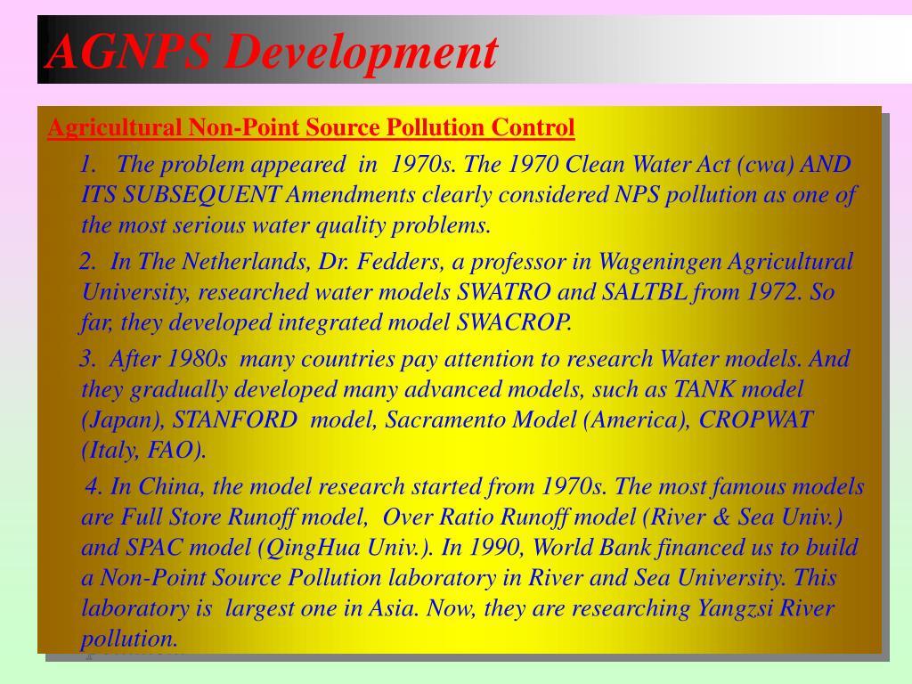AGNPS Development