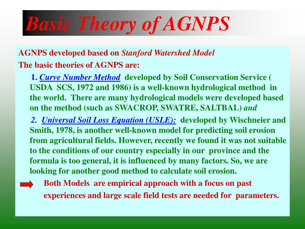 Basic Theory of AGNPS