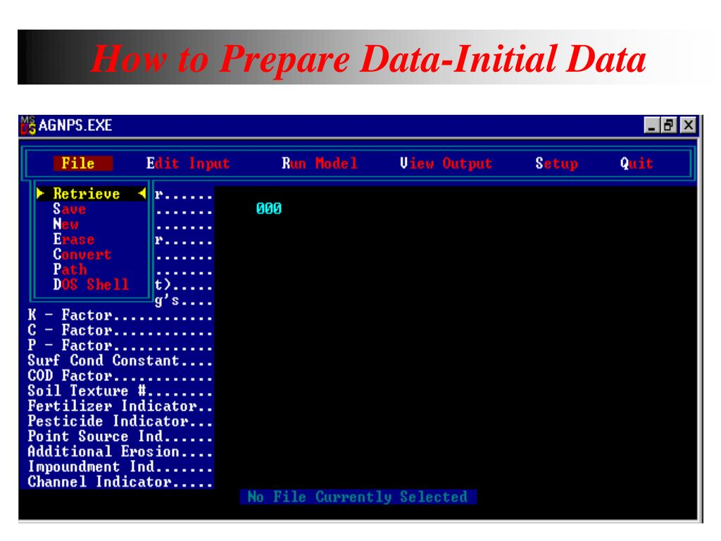 How to Prepare Data-Initial Data