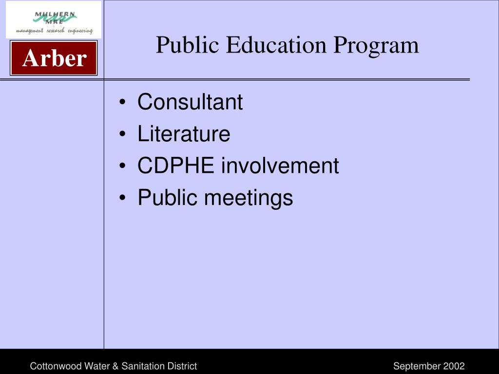 Public Education Program