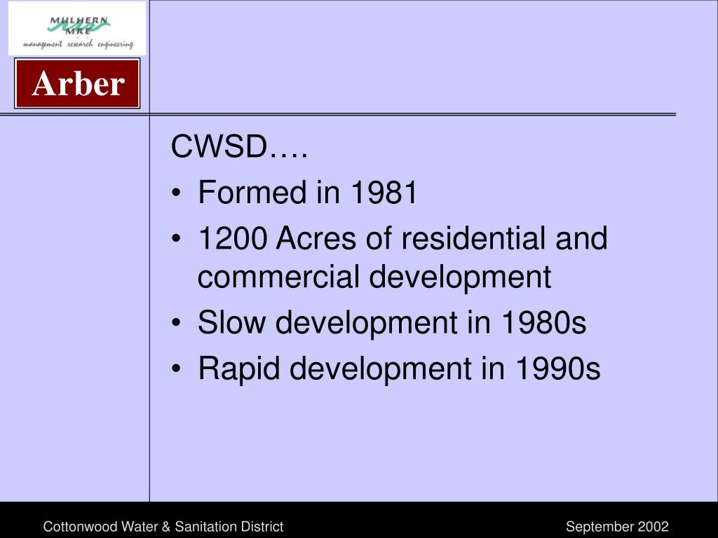 CWSD….