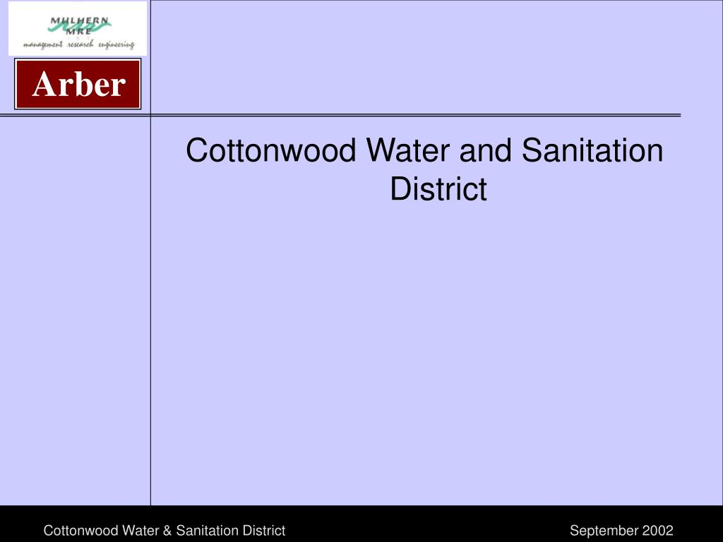 Cottonwood Water and Sanitation District