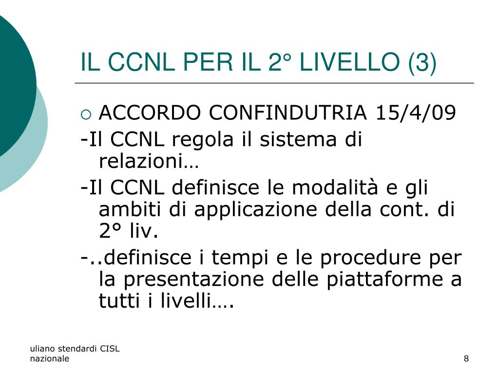 IL CCNL PER IL 2° LIVELLO (3)