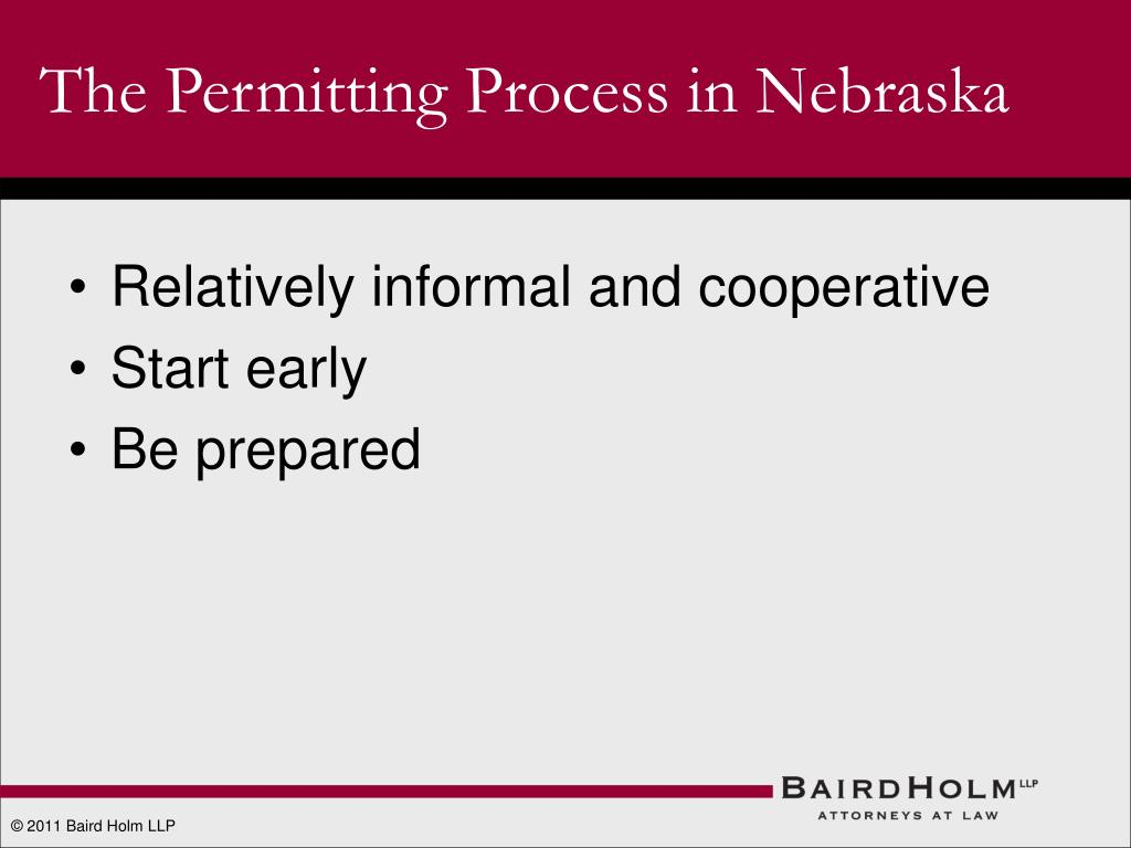 The Permitting Process in Nebraska