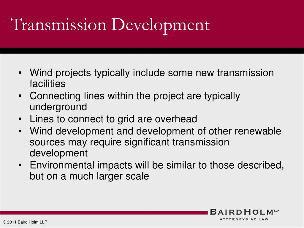 Transmission Development