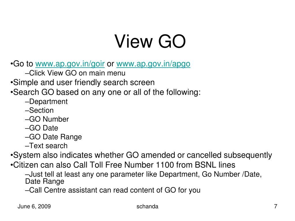 View GO