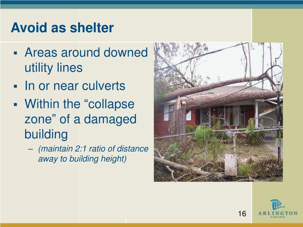 Avoid as shelter