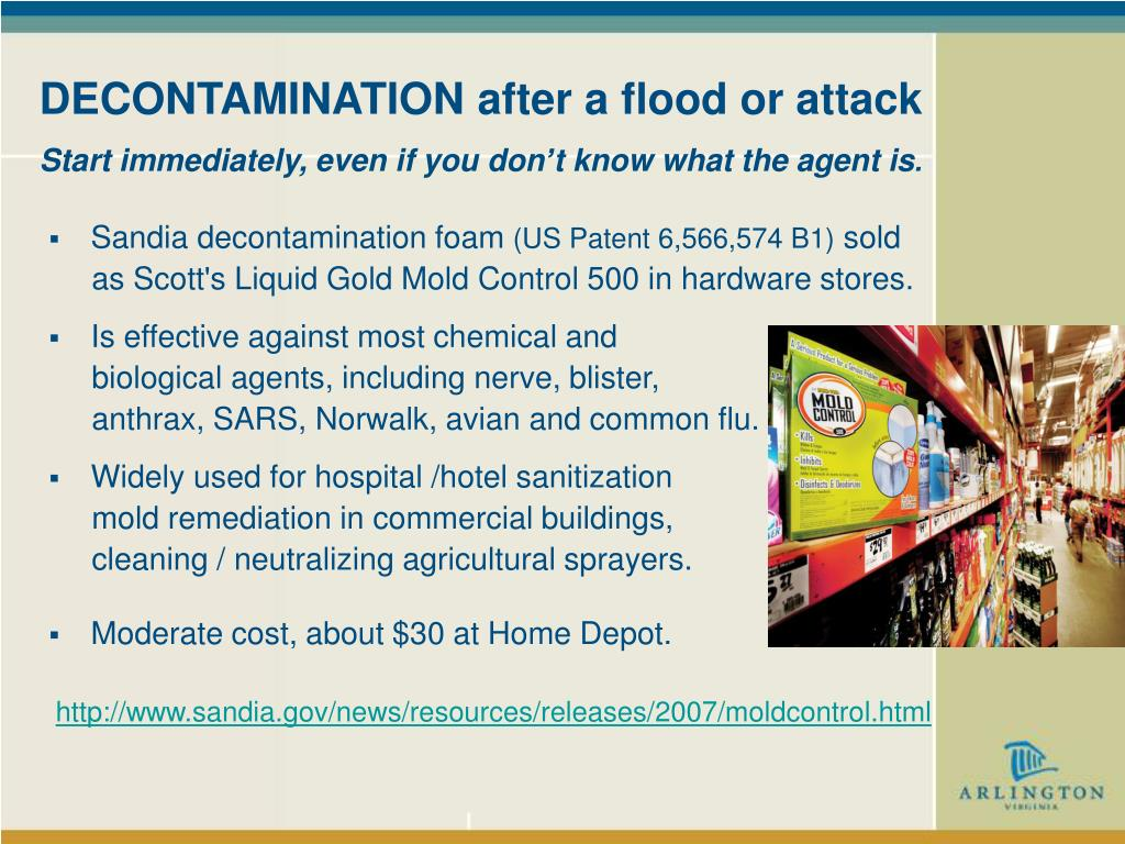 DECONTAMINATION after a flood or attack