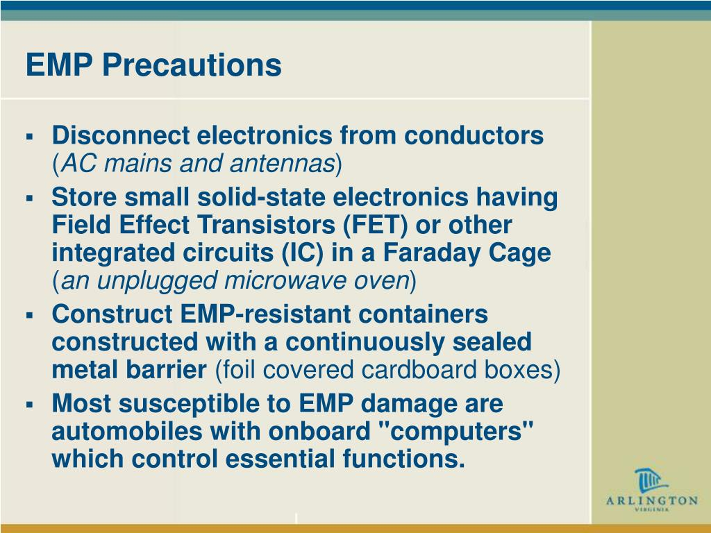 EMP Precautions