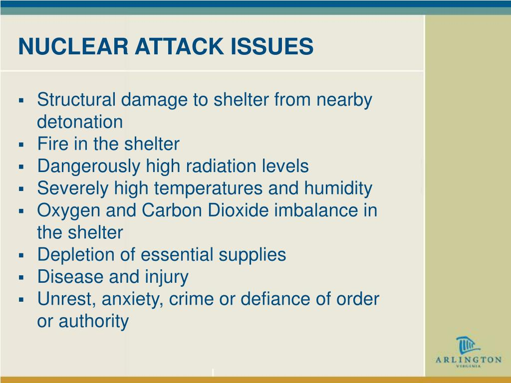 NUCLEAR ATTACK ISSUES