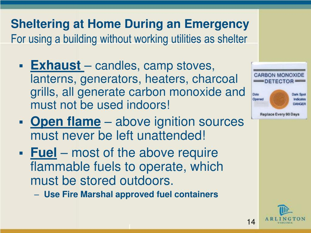 Sheltering at Home During an Emergency