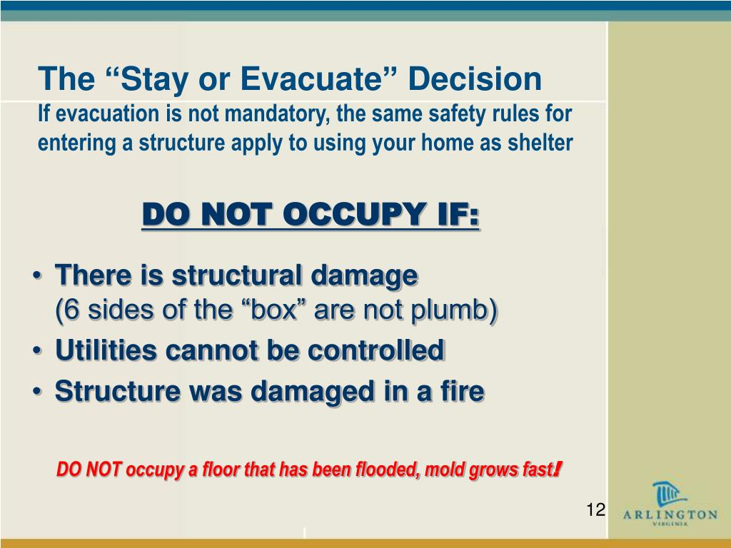 """The """"Stay or Evacuate"""" Decision"""