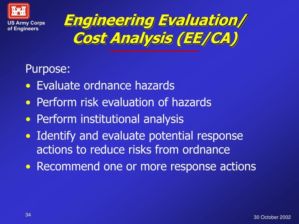 Engineering Evaluation/ Cost Analysis (EE/CA)