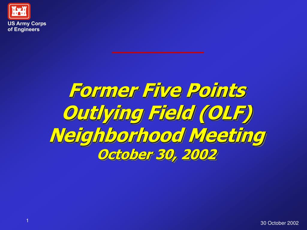 former five points outlying field olf neighborhood meeting october 30 2002