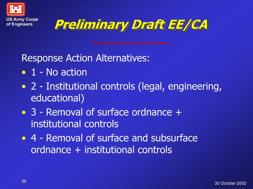 Preliminary Draft EE/CA