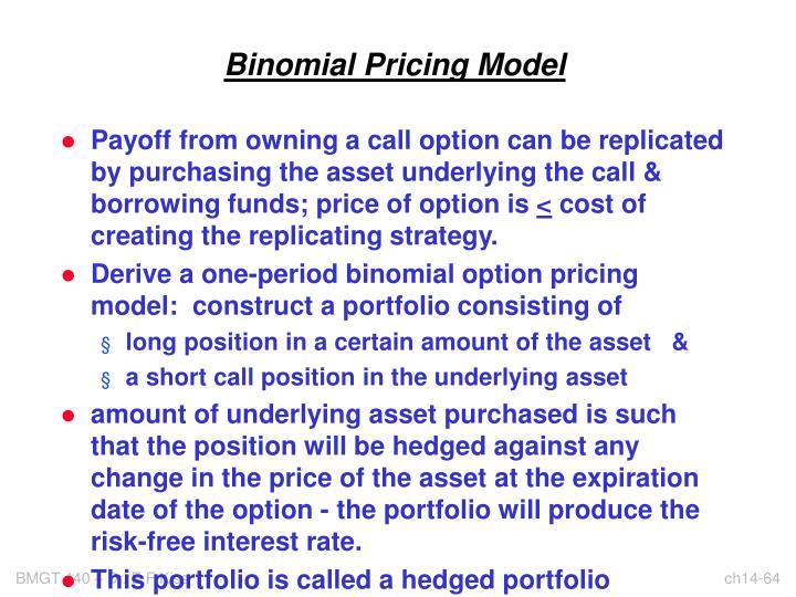 Binomial Pricing Model