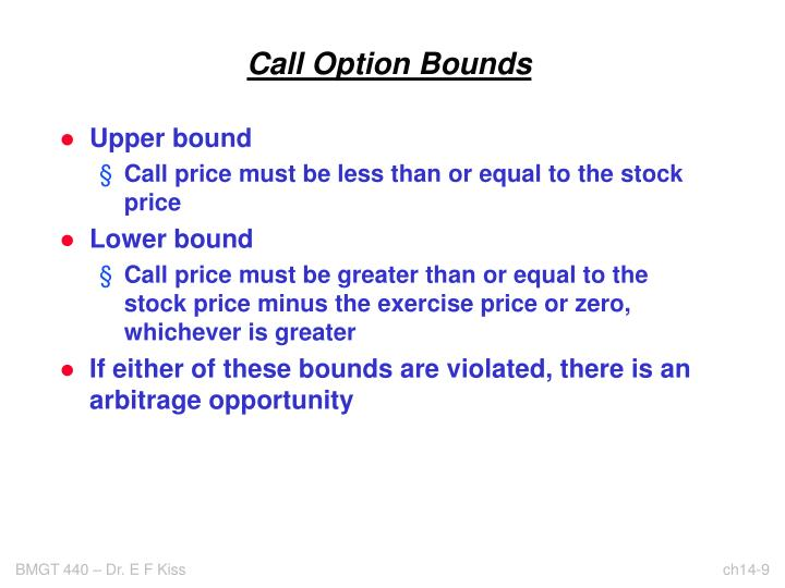 Call Option Bounds
