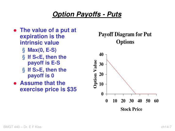 Option Payoffs - Puts