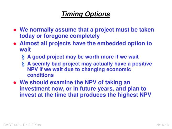 Timing Options