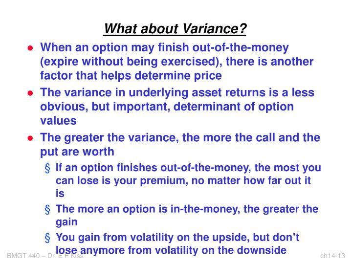 What about Variance?