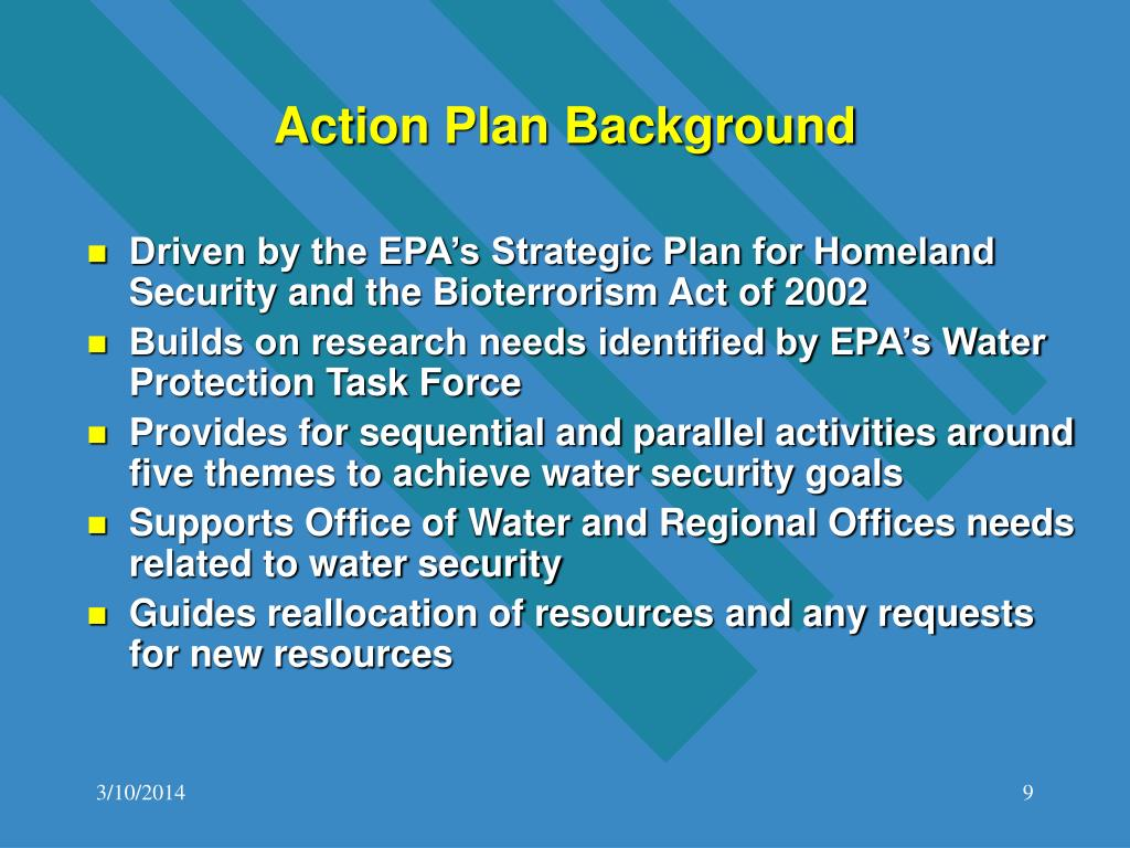 Action Plan Background