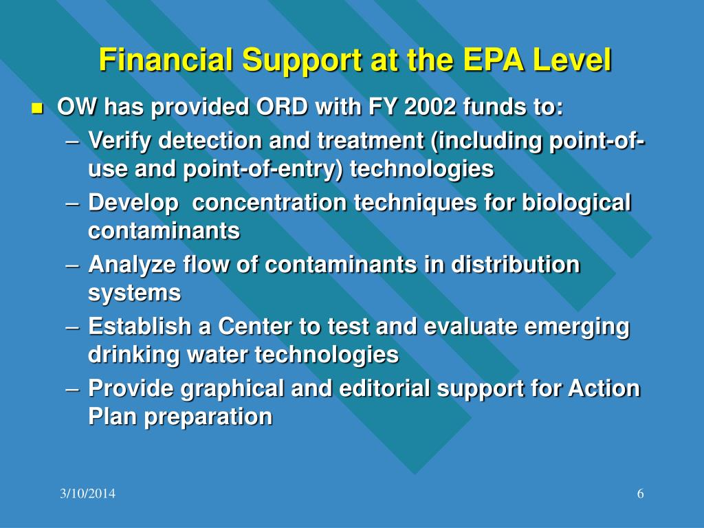 Financial Support at the EPA Level