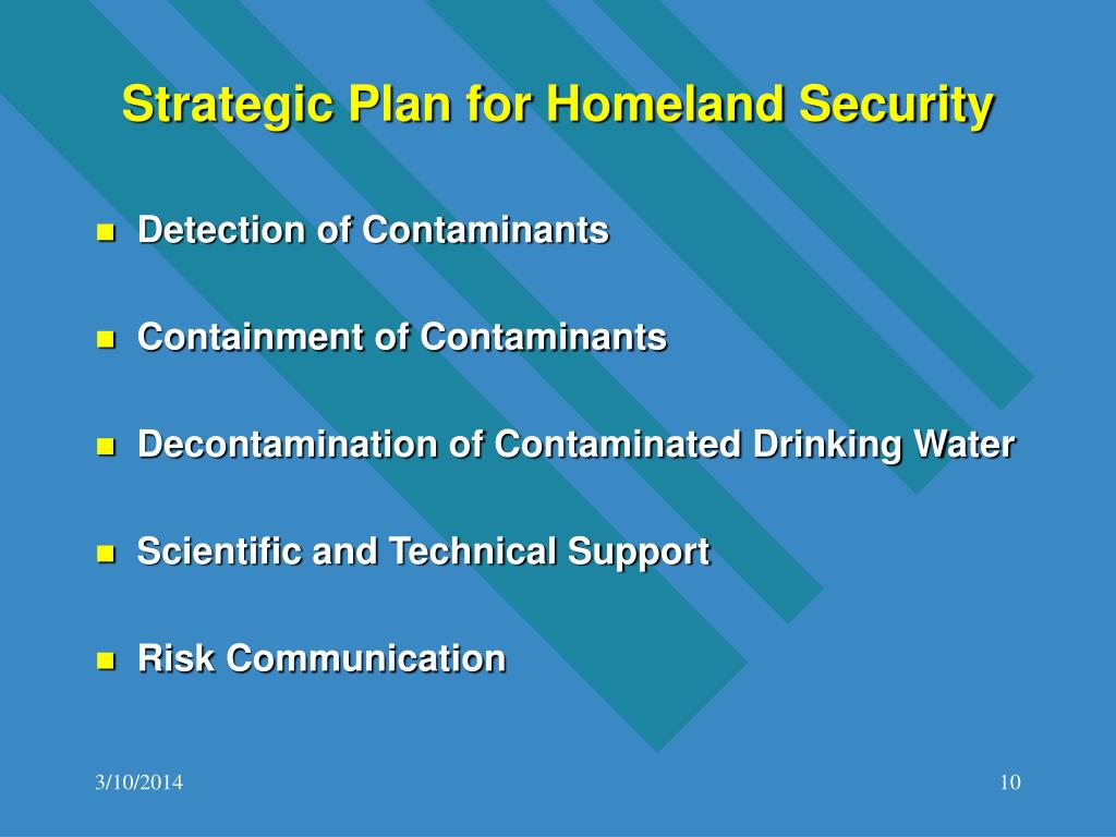Strategic Plan for Homeland Security