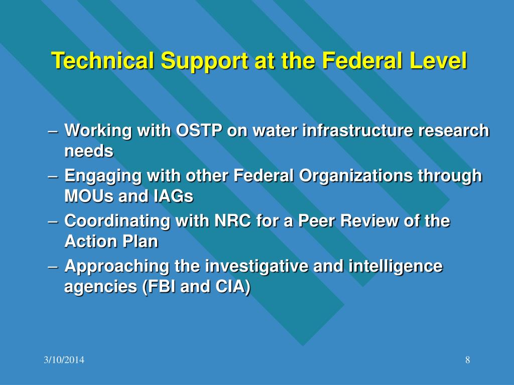 Technical Support at the Federal Level